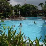 Beautiful crystal blue pool