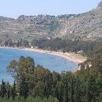 The beach near Nafplio castle
