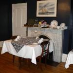 Part of the dining room.