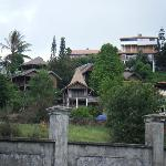 View of hotel on hill