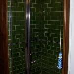 The shower with pretty ceramic light pull