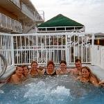All of us in hot tub