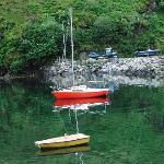 Quiet water in Tarbert harbor
