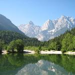 Lake Jasna: View from the Hotel Milka