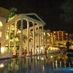 View of the back of the hotel at Night