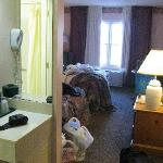 View from room and vanity area...sorry for the mess we were leaving :)