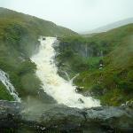 Rain created waterfall Healy Pass