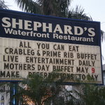 The famous Shephards sign.