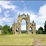 Gisborough Priory 12th Century ruins just aound the coner