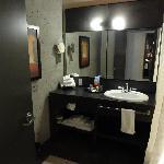 Nice trendy bathroom, no water pressure