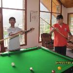 Pranav and Manan playing Pool