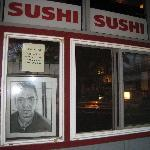 Front window at Sushi Bushido