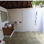 Open Air Bathroom in Bamboo Bungalow