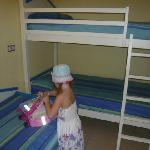 My daughter unpacking in her room