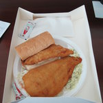 Fish (Scrod) Sandwich to go, No Name Restaurant, Boston