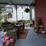 Darling, cozy front porch