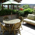 Private patio with water & ferry view