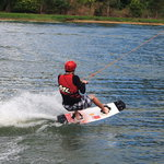 This is a wakeboarder getting launched.