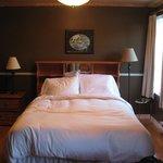 Queen bed in room