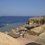 spiaggia vista dal solarium