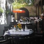 Der Innenhof des Restaurants