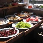 many options at the breakfast buffet!  nefisti!