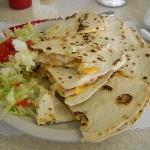 my plate of quesadillas