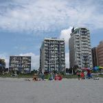 Palmetto Shores and adjacent hotels from the beach