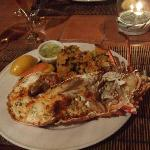 Lobster dinner at the restaurant - very yummy!