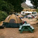 Our campsite at Avila Hot Springs Resort
