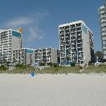 view hotel from the beach