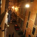 View of street from the room