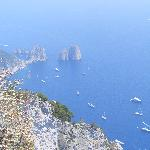 View from top of chairlift on the Isle of Capri