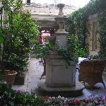 Courtyard at Hotel D'angleterre, Paris