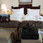 Our Beds in the Tower Suite.