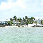 View of the property from the pier located near the resort.