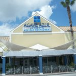 front of Agave Azul