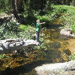 Playing in the river at the campground