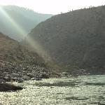 the river chenab in  jammu doda
