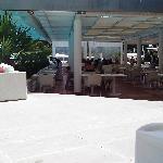 Outside breakfast/lunch area
