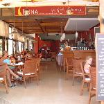 Front view of The Luna Bar