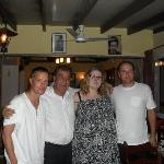 Pancicos, my friends and myself at the restaurant