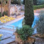 pool from the dining terrace