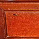A roach on the dresser