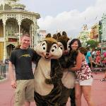 My fiance & I with Chip & Dale