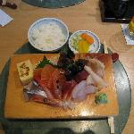 Sashimi (as part of set lunch 23,5£)