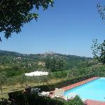Der Pool mit Blick auf San Gimignano