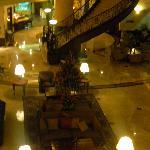 Hotel lobby at night