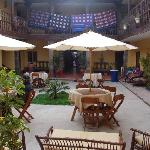 Courtyard/Common Space at Hostal Quipu