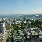 Vue sur la vieille ville de Quebec depuis l'Observatoire